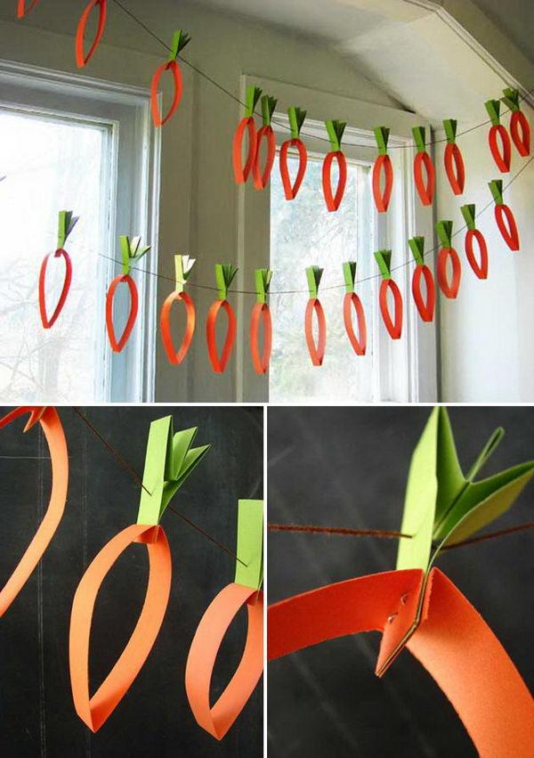 Paper Carrots Garland.