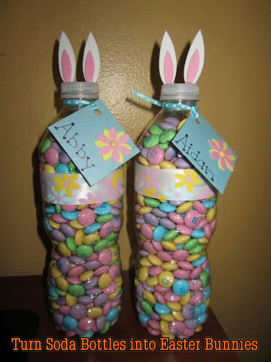 Turn Soda Bottles into Easter Bunnies.