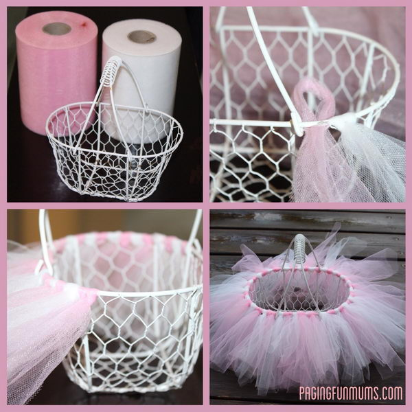 Easy DIY Tutu Easter Basket.